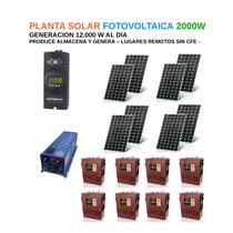 Planta De Energia Solar Fotovolta Fotovoltaica 2000w Sin Cfe