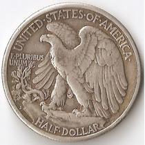 Estados Unidos, 1/2 Dollar, 1943 D. Plata. Il Guerra. Vf