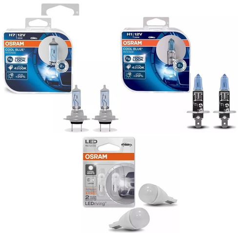 Kit Lampada Osram H7 H1 Pingo Led Osram Cool Blue Intense R 235
