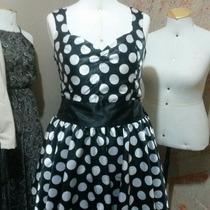 Vestidos Fantasias Poá / Bolinhas Preto E Branco Anos 60