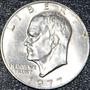 Cumpleaños 1977 Moneda Espejo Chapa Plata Usa Eisenhower Ggw