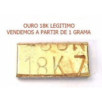 Barra De Ouro 18k Com Certificado 1g Legitimo!