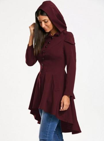 Tono Mujer Gorro Caperucita Vintage Abrigos Vino Listones q8wpHAU6