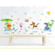 B Vinil Decorativo Winnie Pooh P / Baño Habitación Infantil