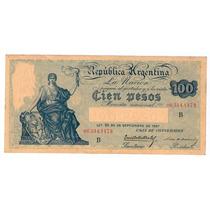 Billete De 100 Pesos Caja De Conversion Bottero 1690