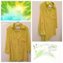 Camisa De Gasa Amarilla Talle L Taverniti
