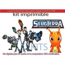 Kit Imprimible Candy Bar Slug Terra Slugterra Bajo Tierra