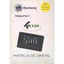 Tablet Android 7 Pulgadas Pantalla De Cristal Klyan