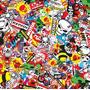 Animado - D01 - Sticker Bomb - Ancho: 1m