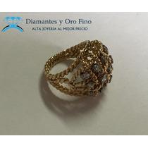 Fino Ramo De Brillantes Naturales .90 Ct En Oro De 14 K