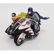 Batcycle Batman Y Robin Hot Wheels Elite Escala 1:12