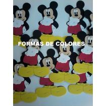 Mickey En Goma Eva... X 8 Unidades