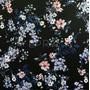Flores Negro-Azul (Polilycra)