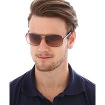 Óculos De Sol Polo Club Dourado & Marrom Aviador