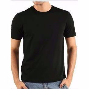 Camiseta 100% Algodão Lisa Preta Fio 30.1 Básica Penteada - R  13 139602005e3
