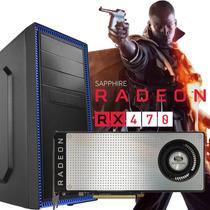 Pc Gamer Intel Cpu Core I5 6400 + Radeon Rx 470 Rx470 Nuevas