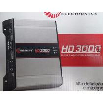 Modulo Potencia Automotiva Hd3000 3000w Rms Mono Rca 1 Ohms