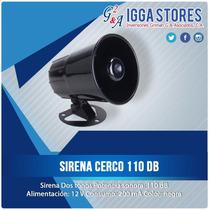 Sirena De Alarma O Cerco Electrico / 110 Db / Cableada