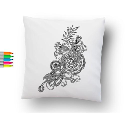 Cojin Para Colorear Mandala Arabescos + Envío Gratis - 45x45 ...
