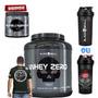 Whey Zero 2kg + Brindes - Black Skull - Grátis Pré Treino