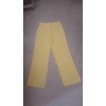 Pantalon De Lino Amarillo