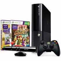 Xbox 360 4gb + Sensor Kinect + Controle Sem Fio + 2 Jogos