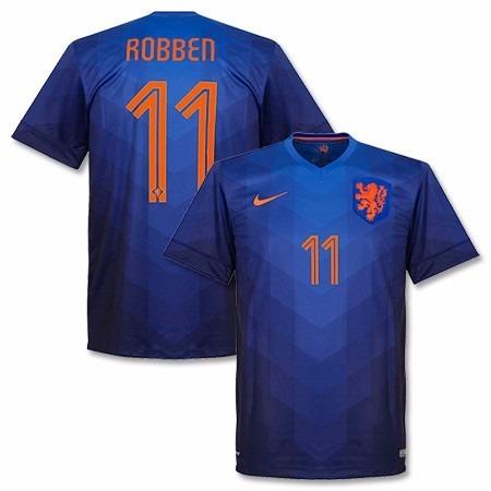 e2b854696a6ef Camisa Seleção Holanda Azul 2014 2015 Robben - R  159