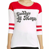 Blusa Mujer Harley Quinn Daddy´s Lil Monster Suicide Squad