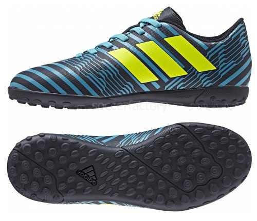 Botines adidas Nemeziz 17.4 Césped Artif Niños Negro C azul -   1.796 c5f56f72f0987