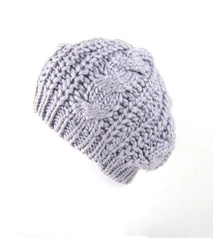 Boina Cinza Crochet Crochê Lã Beret Beanie Importado Novo - R  36 0ae7f96fa9c