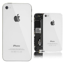 Tapa Trasera Iphone 4 / 4s Vidrio / Cristal Negro / Blanco