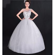 Hermoso Vestido De Novia Blanco Mediano Moda Asiatica