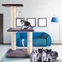 Subir Post Poste Alto Casa Árbol Cero Actividad Mascotas
