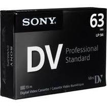 Fita Minidv Sony Dv 63 Premium Caixa Com 5 Fita (ver Frete)