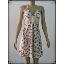 Vestido Curto Estampado Branco/ Floral Allure Collection