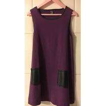 Vestido Color Uva Zara Talle 7-8 Años. Impecable