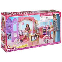 Real Casa Portatil Da Barbie Mattel Com Boneca