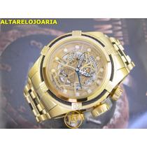 Relógio Invicta Bolt Zeus Cronografo Suiço Plaque Ouro 12903