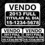 3 Calcos Vendo | Cartel Vendo Auto Moto | Sticker Vinilo X3