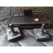 Atari 2600 Completo 2 Controles Mais Saída E Jogo