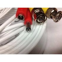 Cable Bnc 20 Mts. Para Camaras Con Conectores Secutech. B/n