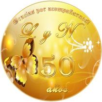 Kit Imprimible Aniversario Bodas Oro Fiesta Temática