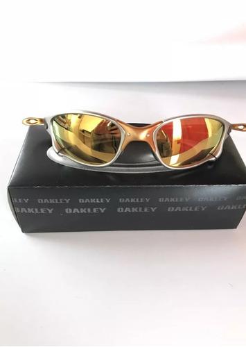 25398651b Óculos Oakley Juliet Double X 24k Gold Dourado Polarizado - R$ 69,90 em  Mercado Livre