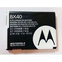 Bateria Motorola Bx40 Original V8 V9 U9 Zn5 Nova Original