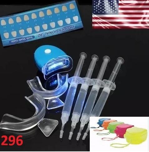 Kit C 4 Clareamento Dentario Dente Gel 44 Led Moldeira R 99 90