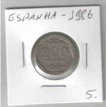 6898 Moeda Espanha (200 Pesetas) 20mm 1986