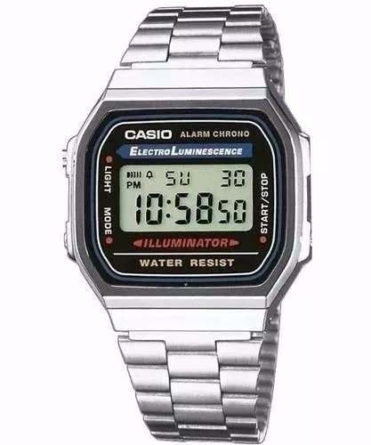75b76dae887 Relógio Masculino Digital Casio Retro Prata Vintage Original - R  135
