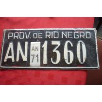 Patente Antigua Rio Negro Allen 1971 Original. No Enlozada