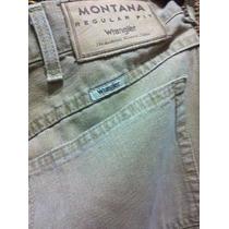Jeans Wrangler Montana De Hombre Talle 50 - 54 Cm De Cintura