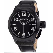 Invicta Mens 1138 Corduba Black Ion Plated Calf Leather